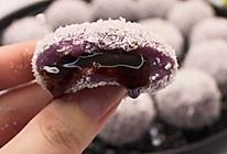 一口流心香甜软糯的椰蓉紫薯球,好吃到飞起~的做法