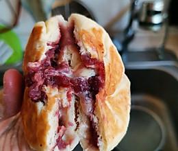 电饼铛版 紫薯泥芝士饼的做法