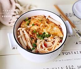 番茄菌菇汤面的做法
