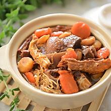 吃得有点饱-支竹羊肉煲