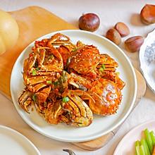 秋天的第一只螃蟹【大闸蟹炒年糕】