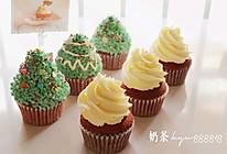 红丝绒杯子蛋糕圣诞版的做法