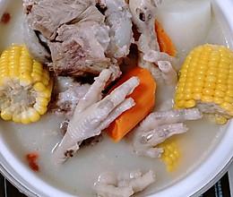 #全电厨王料理挑战赛热力开战!#猪骨鸡爪煲的做法