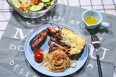 #一人一道拿手菜#焗波士顿龙虾肉酱意面