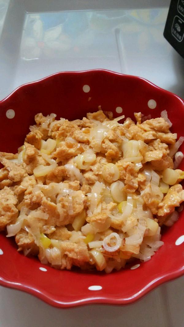 虾酱炒鸡蛋的做法