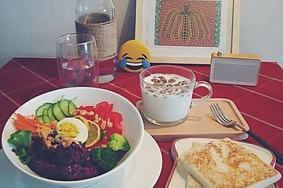 紫薯鸡蛋沙拉-低脂轻饮食
