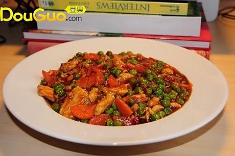 豌豆炒鸡肉