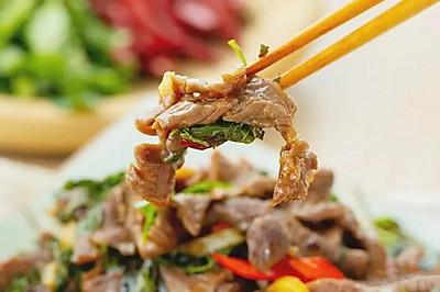 花椒芽炒牛肉