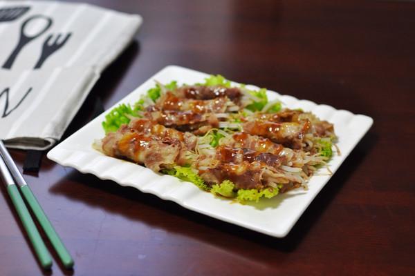 清蒸肥牛卷豆芽#每道菜都是一部时光机#的做法