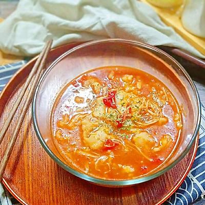 番茄金针龙利鱼