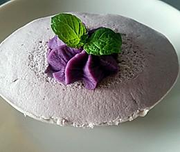 紫薯豆腐花蛋糕的做法
