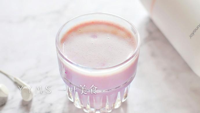 紫薯燕麦奶昔