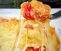 #换着花样吃早餐#芝土焗面包布丁的做法