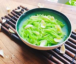 秋日润肺就靠它,莴苣炒百合,清爽简单易上手的做法