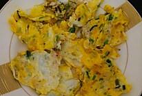 青蒜虾皮煎蛋的做法