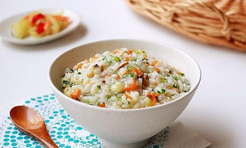 时蔬大米粥|搞定萌娃爱吃菜#嘉宝笑容厨房#的做法