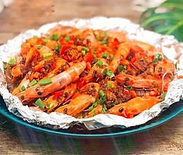 锡纸烤虾的做法