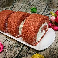 红丝绒奶油蛋糕卷的做法图解27