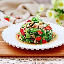 #憋在家里吃什么#花生米拌红根菠菜
