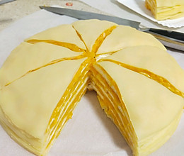 芒果千层蛋糕(附煎皮和打发奶油注意事项)的做法