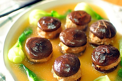经典徽菜 香菇酿肉