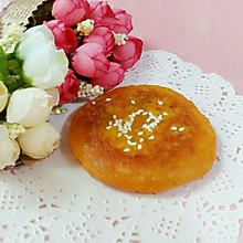 南瓜豆沙甜糯饼