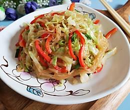 素炒粉丝卷心菜的做法