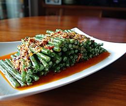 夏日凉菜--姜汁蒜泥豇豆的做法