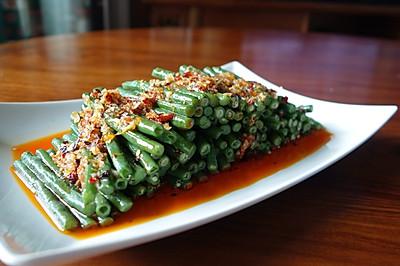 夏日凉菜--姜汁蒜泥豇豆