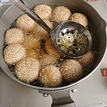 简单易学小零食~糯米空心麻球