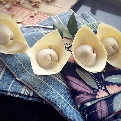 花式传统小葱馄饨-馄饨的四种包制