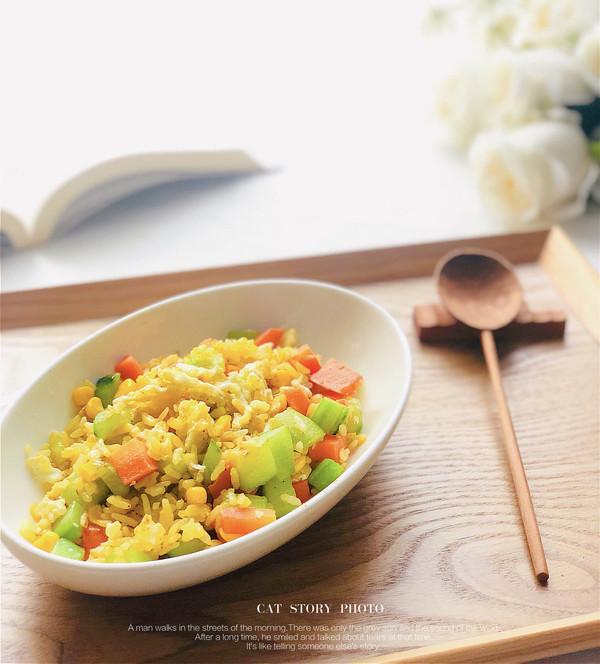 营养丰富的蔬菜黄金蛋炒饭的做法