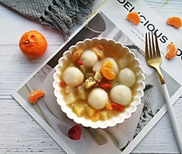 水果甜汤汤圆的做法
