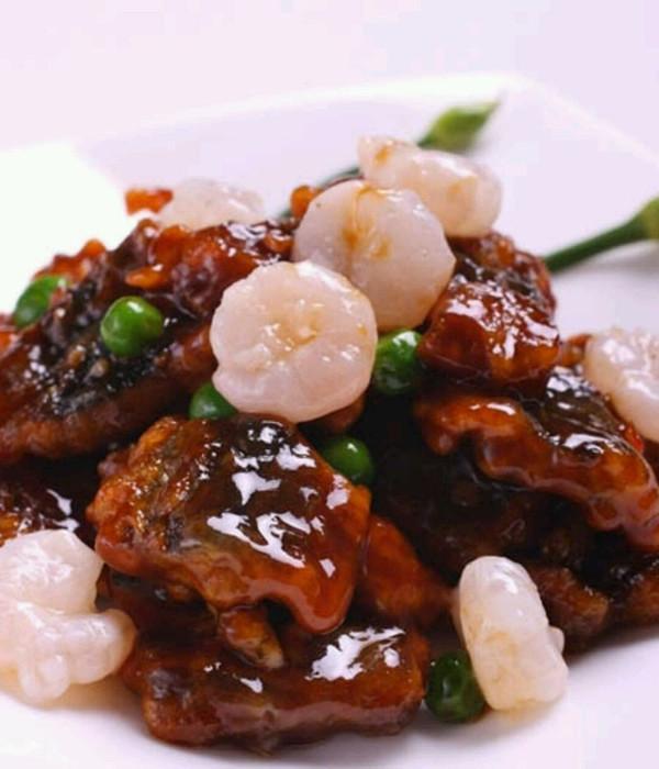 鲜虾爆黄鳝的做法
