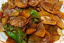 超级下饭的土豆片螺丝椒炒肉片的做法