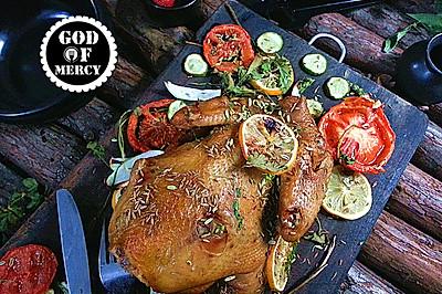 爱心菜谱我来做主=感恩节触动味蕾的茴香烤鸡