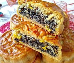 #中秋宴,名厨味# 广式玉米黑芝麻月饼的做法