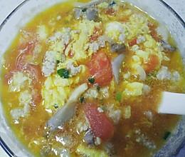 番茄鸡蛋肉圆子汤的做法