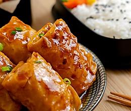 #快手又营养,我家的冬日必备菜品#香菇鲜肉腐皮卷|肉嫩多汁的做法
