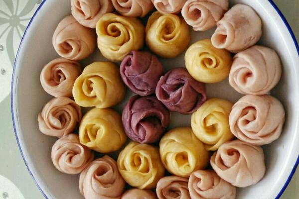 紫薯玫瑰小馒头的做法