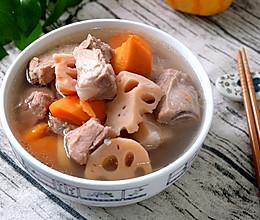 莲藕胡萝卜排骨汤的做法