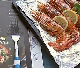 【芝士黄油烤大虾】的做法