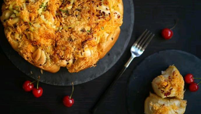 培根肉松手撕面包#有颜值的实力派#
