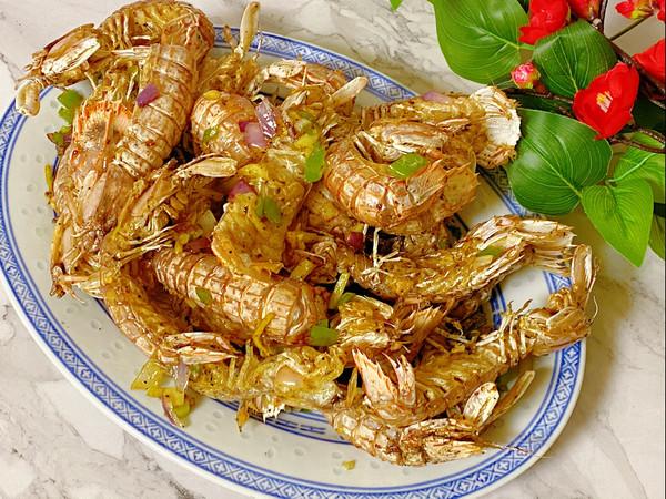 椒盐皮皮虾~酥脆咸香的做法