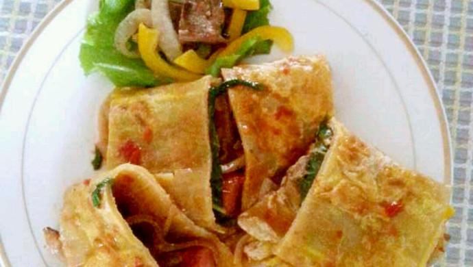 台湾美食小吃视频_烤冷面怎么做_烤冷面的做法视频_豆果美食
