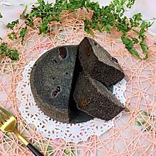 #秋天怎么吃#烫面黑米蒸蛋糕