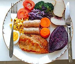 香煎鸡胸肉营养低脂减肥餐的做法