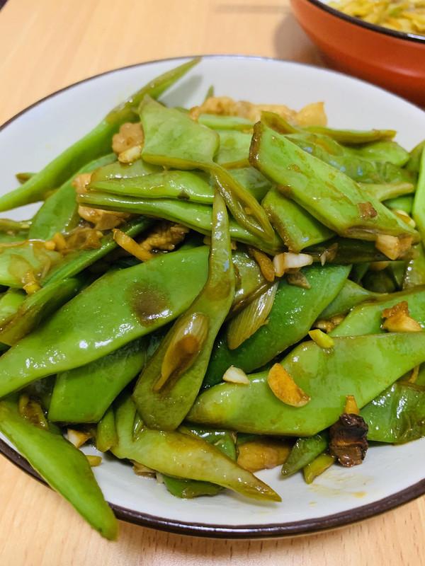 超入味的炒宽扁豆的做法