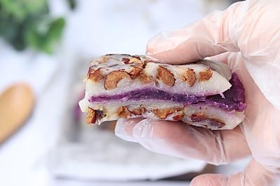 红枣紫薯切糕