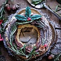 圣诞花环车轮泡芙